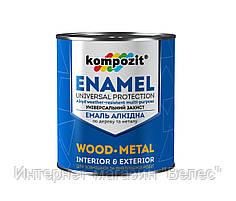 Эмаль ПФ-115 коричневая 0,25 кг Kompozit