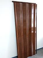Дверь гармошкой глухая дуб темный 7036, 81*203*0,6 см, фото 1