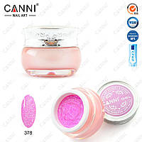 """Декоративный гель """"Звездная пыль"""" Starry gel Canni № 378 сиреневато-розовый, 10 мл"""