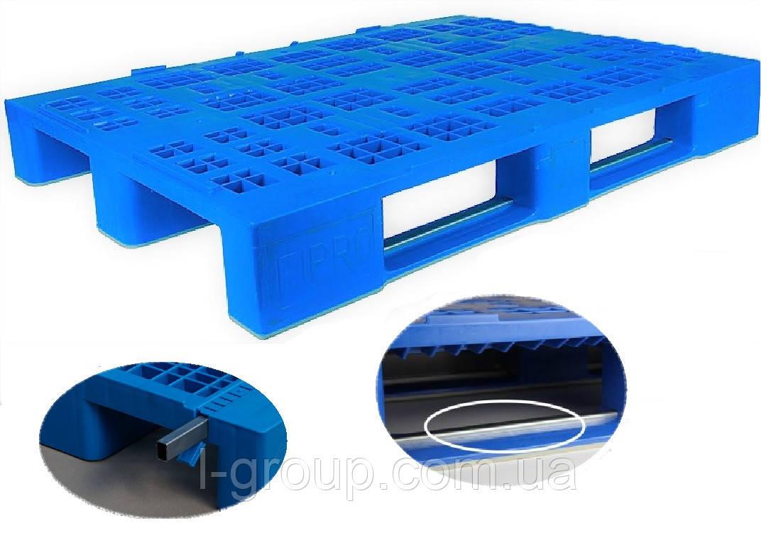 Пластиковый поддон 1200х800х160 мм с металлическими вставками