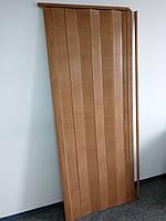 Гармошка межкомнатная пластиковая глухая Бук 810*2030*6мм, фото 1