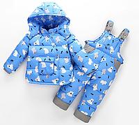 Теплий зимовий комбінезон на пуху для діток