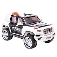 Детский электромобиль - Jeep Police - громкоговоритель, колеса EVA, LED фары