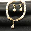 Колье и серьги набор бижутерии свадебное ожерелье, фото 4