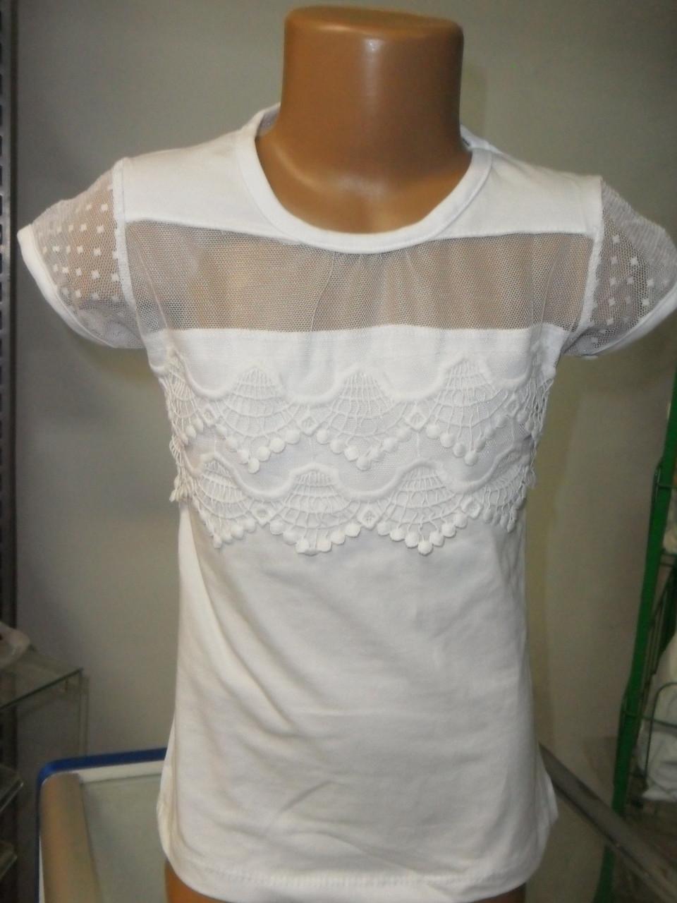 4a3d9dad050 Нарядная белая блузка для девочки