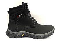Ботинки зимние ECCO мужские кожаные  черные E0033
