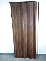 Дверь гармошкой глухая венге матовая 801, размер 810*2030*6 мм, фото 1