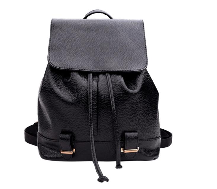 Модный черный рюкзак