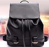 Модный черный рюкзак, фото 3