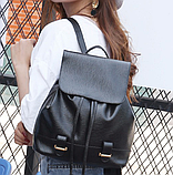 Модный черный рюкзак, фото 4
