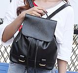 Модный черный рюкзак, фото 5