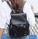 Модный черный рюкзак, фото 6