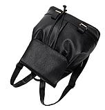 Модный черный рюкзак, фото 7
