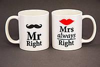 Набор чашек Мистер и Миссис