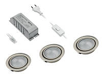 Галогенные светильники GTV - комплект из 3 шт