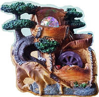 Фонтан комнатный мини Пейзаж персидский с бочками  подсветка и шар и насосом декоративный 808 24=1