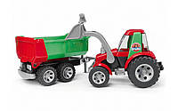 20116 Bruder Трактор с ковшом и прицепом ROADMAX