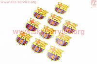 Наклейка FC Barcelona 10 штук 4,5 х 4,5 см на скутер