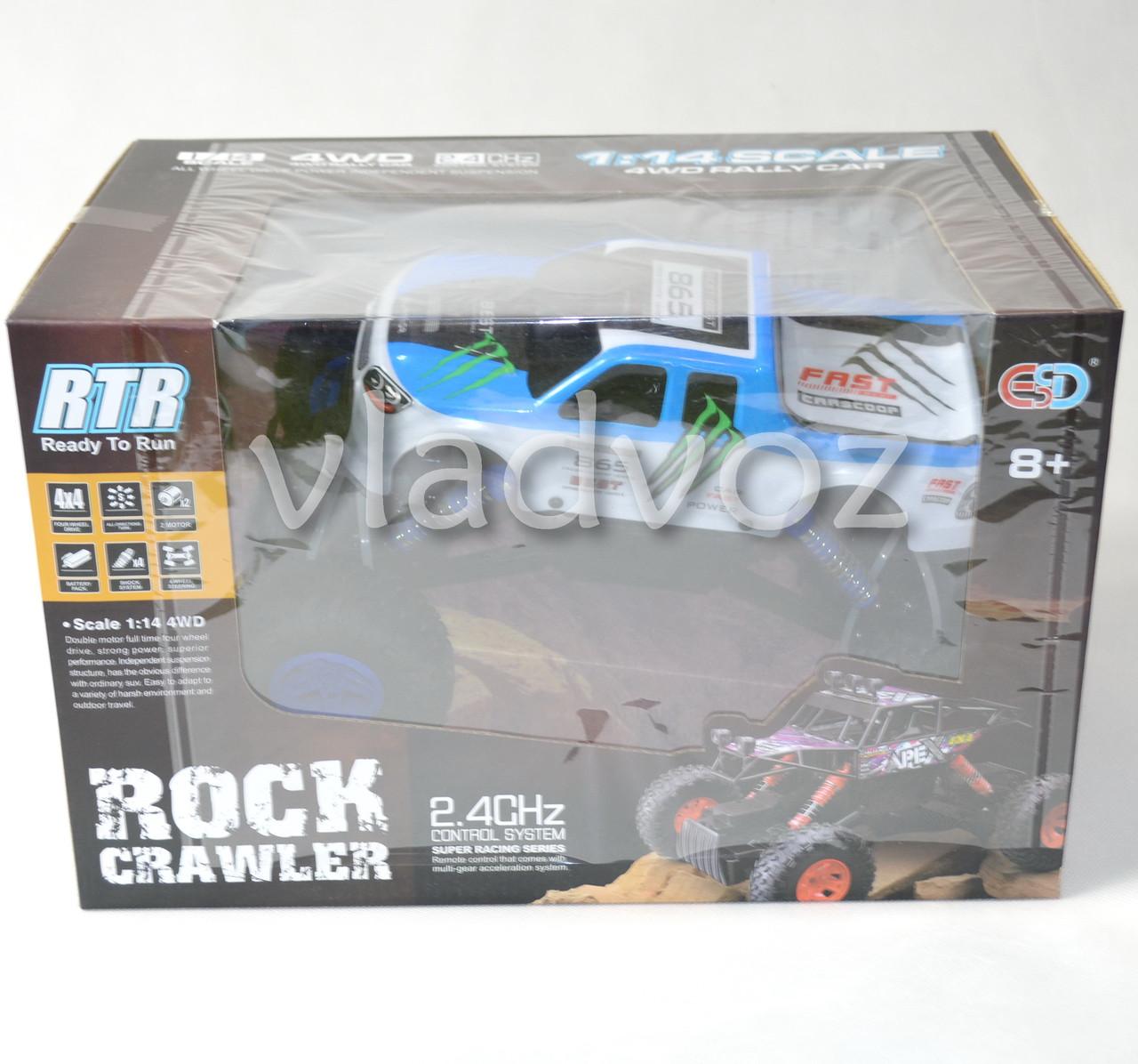 Упаковка джипа на радиоуправлении 4x4 Rock Crawler синего цвета