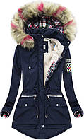 Парка куртка  женская зимняя клетка №2