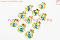 Наклейка FC Real Madrid 10 штук 4,5 х 4,5 см на скутер
