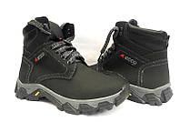 Ботинки подростковые ECCO кожаные зимние черные E0036