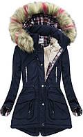 Парка куртка  женская зимняя клетка №3