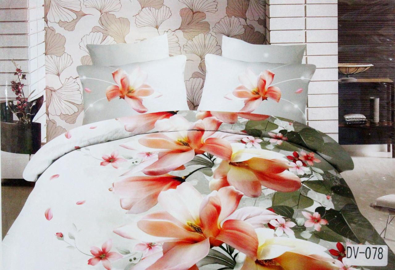 Комплект постельного белья Florida 5D Sateen DV-078 Евро размер