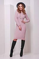 Вязаное платье 135 пудра