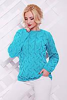 Теплый женский свитер LOLO мята ТМ FashionUp 42-50 размеры