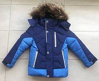 Куртка зимняя спортивная на мальчика 92-110 см, возраст 2, 3, 4, 5,6 лет