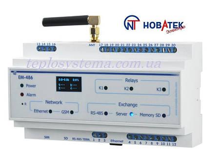 Контроллер интерфейса MODBUS RS - 485 по мобильной связи ЕМ - 486 (Новатек-Электро), фото 2