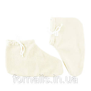 Носочки для парафинотерапии Jerden Proff флисовые, цвет белый, пара