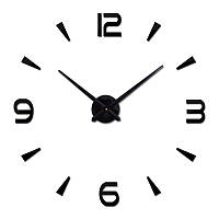 Большие настенные 3Д часы 70-150см Комбинированные Черные 005В
