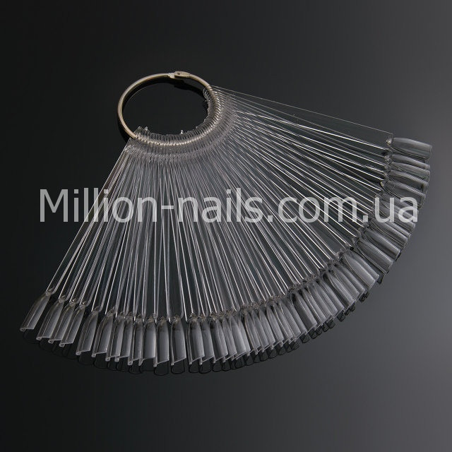 Палитра - веер на кольце прозрачная на 50 образцов