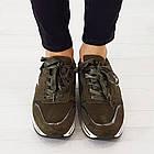 Кроссовки из замши Woman's heel 38 оливковые (О-808), фото 3