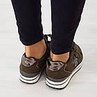 Кроссовки из замши Woman's heel 38 оливковые (О-808), фото 4