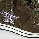 Кроссовки из замши Woman's heel 38 оливковые (О-808), фото 5