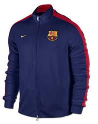 Спортивная толстовка (кофта) Nike-Barselona, Барселона, Найк, синяя, К564
