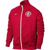 Спортивная олимпийка (кофта) Nike-MU, Манчестер Юнайтед, Найк, красная, К567