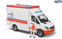 02536 Bruder скорая помощь Mercedes Sprinter с водителем