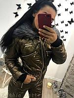 Зимний женский комбинезон