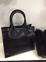 Сумка натуральная кожа ss258458  кожаные сумки черный