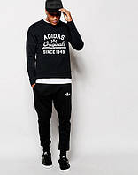 УТЕПЛЕННЫЙ Мужской Спортивный костюм Adidas Originals чёрный