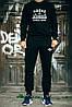 УТЕПЛЕННЫЙ Мужской Спортивный костюм черный Adidas Originals черный (реплика)