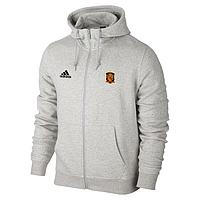 Спортивная толстовка (кофта) сборной Испании-Адидас, Spain, Adidas, с капюшоном, белая, К4426