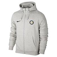 Спортивная толстовка (кофта) Интер-Найк, Inter, Nike, с капюшоном, белая, К4429