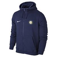 Спортивная толстовка (кофта) Интер-Найк, Inter, Nike, с капюшоном, синяя, К4430
