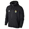 Спортивная толстовка (кофта) Реал Мадрид- Адидас, Real Madrid, Adidas, с капюшоном, черная, К4455