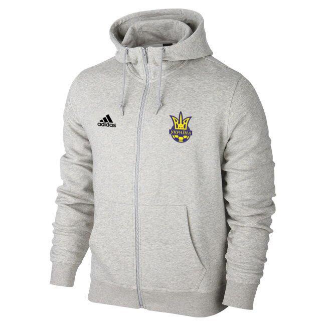 a64ed5fd0249 Спортивная толстовка (кофта) Сборной Украины-Адидас, Adidas, с капюшоном,  белая